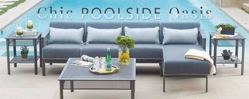 Chic Poolside Oasis