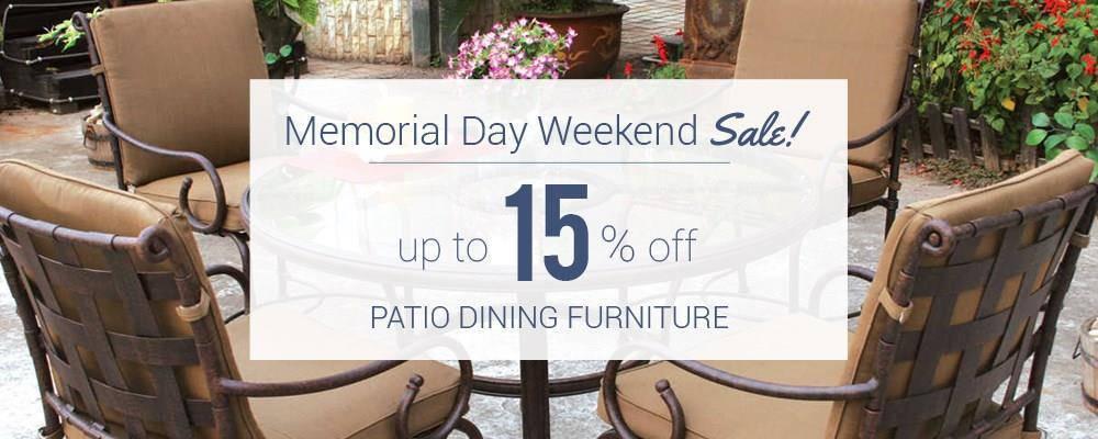 memorial weekend patio dining furniture sale patioliving
