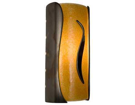 A19 Lighting reFusion Flare Gunmetal & Tangelo Wall Sconce