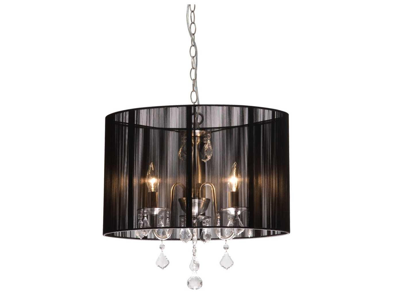 Mini Chandelier String Lights : Artcraft Lighting Claremont Black & Silk String Four-Light 13 Wide Mini Chandelier AC380BK