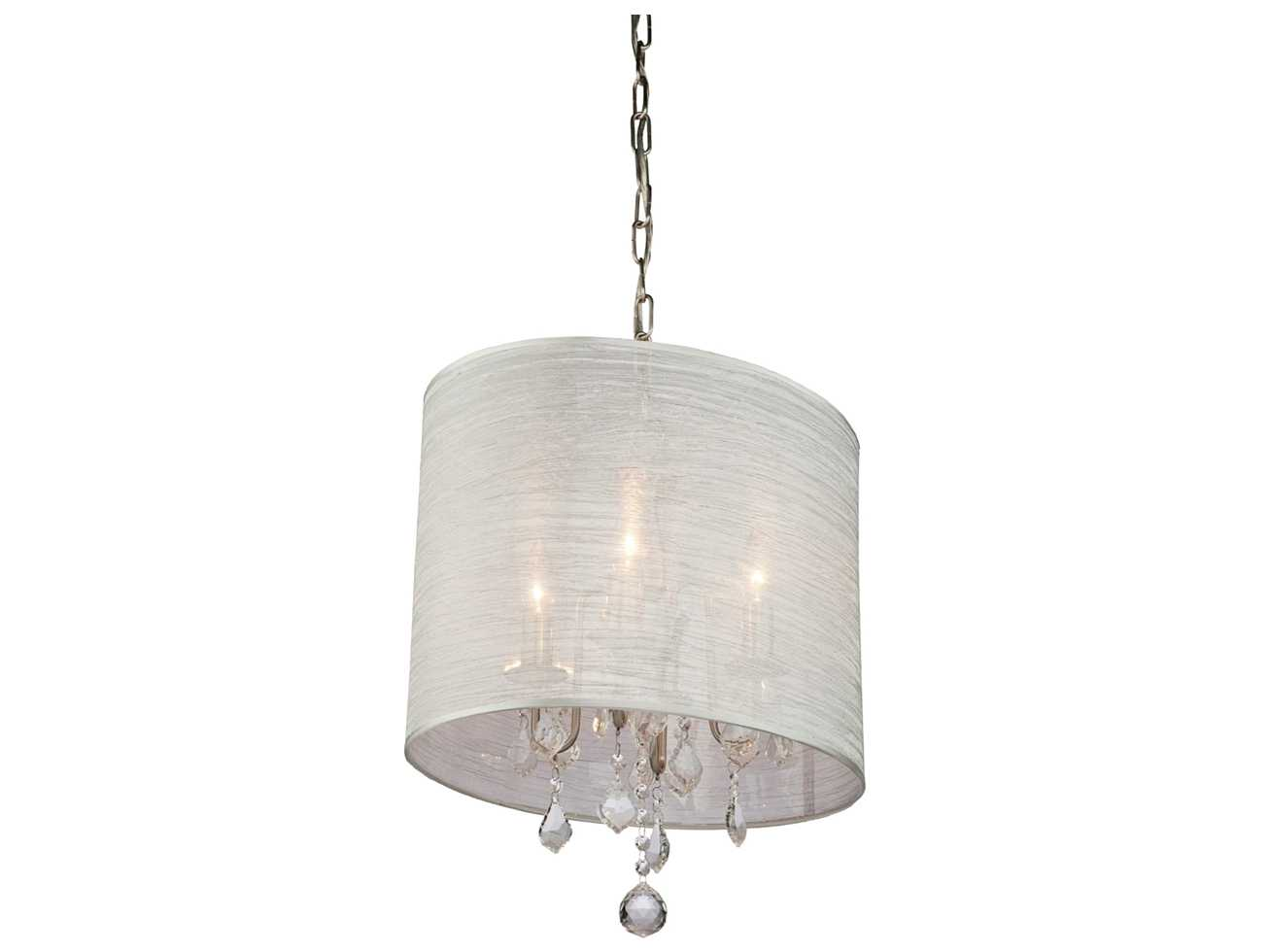 Mini Chandelier String Lights : Artcraft Lighting Claremont Silver & Silk String Four-Light 13 Wide Mini Chandelier AC380SI