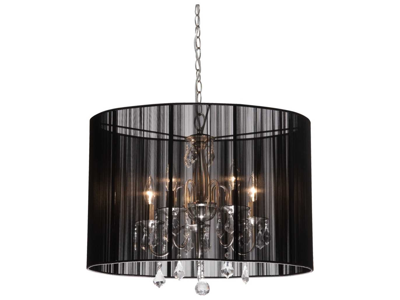 Mini Chandelier String Lights : Artcraft Lighting Claremont Black & Silk String Five-Light 17 Wide Mini Chandelier AC381BK