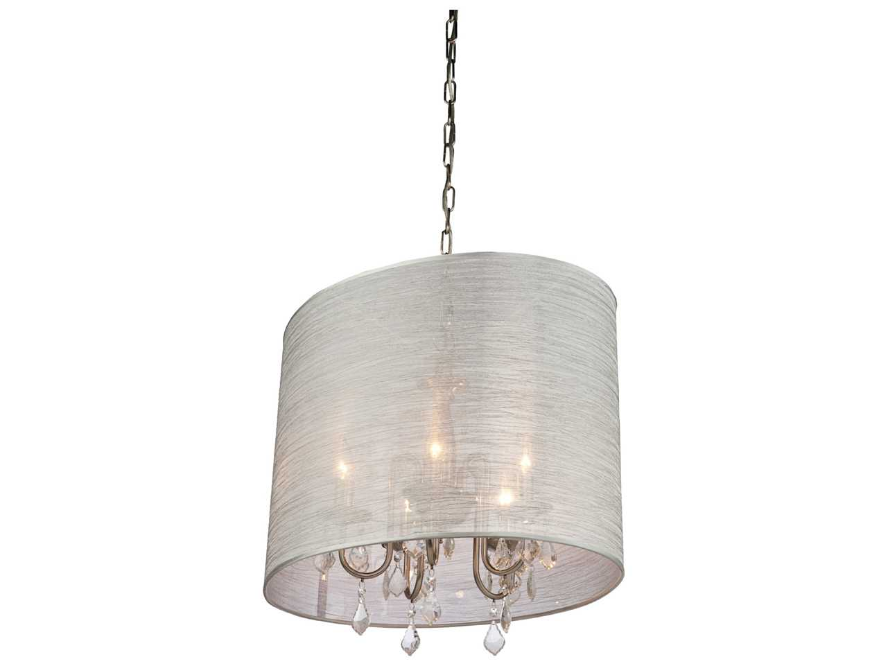 Mini Chandelier String Lights : Artcraft Lighting Claremont Silver & Silk String Five-Light 17 Wide Mini Chandelier AC381SI