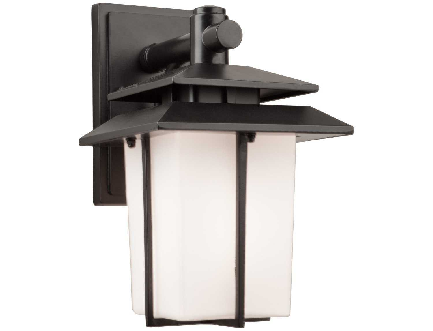 Small Wall Lights For Bathroom : Artcraft Lighting Bayshore Small Black Outdoor Wall Light AC8931BK