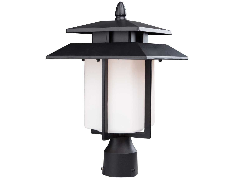 Artcraft Lighting Bayshore Black Outdoor Post Mount Light Ac8943bk