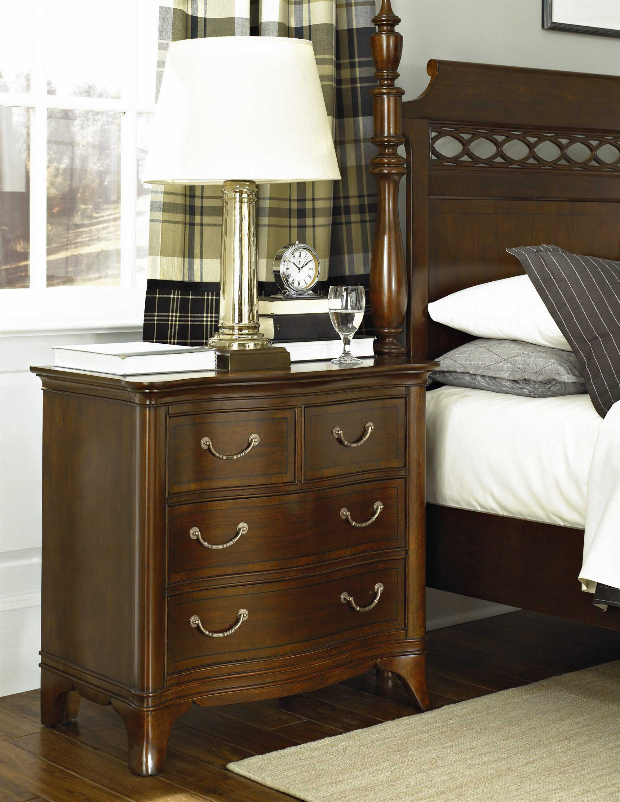 American drew cherry grove mid tone brown bedroom set - American drew cherry bedroom set ...