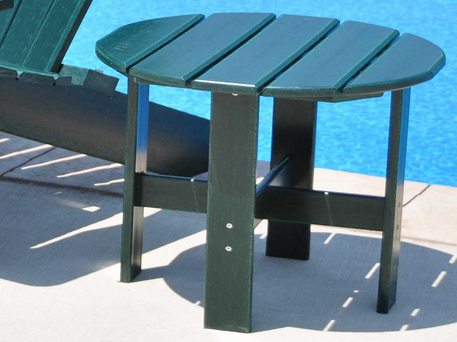 Frog furnishings recycled plastic adirondack side table for Pvc patio table