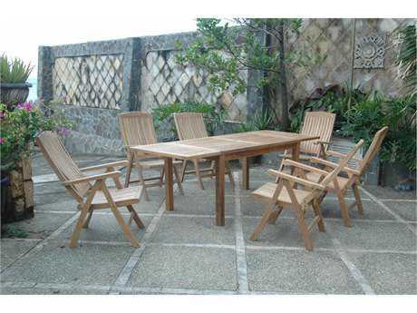 Anderson Teak Katana Teak 6 Person Teak Casual Patio Dining Set