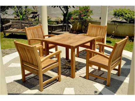 Anderson Teak Bistro Teak 4 Person Teak Bistro Patio Dining Set