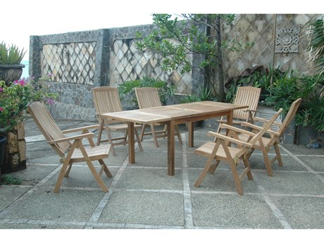 Anderson Teak Chicago Teak 4 Person Teak Casual Patio Dining Set