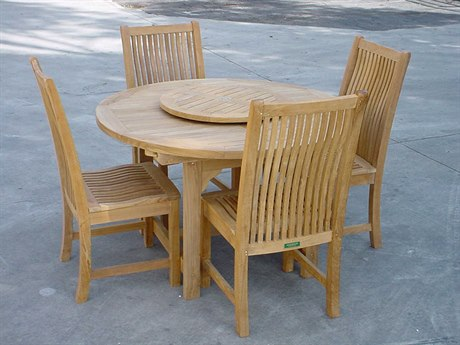 Anderson Teak Mandalay Teak 2 Person Teak Bar Patio Dining Set