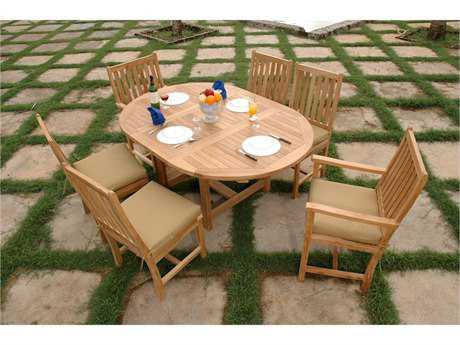 Anderson Teak Wilshire Teak 2 to 3 Person Teak Casual Patio Dining Set
