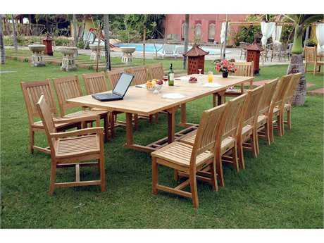 Anderson Teak Rialto Teak 8 or more Teak Casual Patio Dining Set