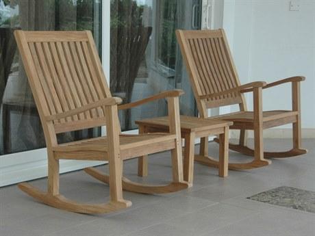 Anderson Teak Brianna Teak 4 Person Cushion Conversation Patio Lounge Set