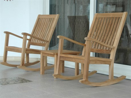 Anderson Teak Brianna Teak 4 Person Cushion Conversation Patio Lounge Set