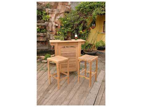 Anderson Teak Montego Teak 2 Person Teak Bar Patio Dining Set