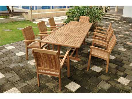 Anderson Teak Sahara Teak 8 or more Teak Casual Patio Dining Set