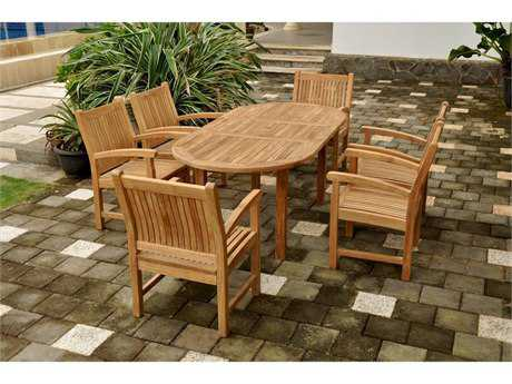 Anderson Teak Sahara Teak 6 Person Teak Casual Patio Dining Set