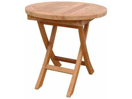 Anderson Teak Bahama 20 Round Mini Side Folding Table