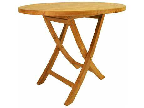 Anderson Teak Bahama 35 Round Bistro Folding Table