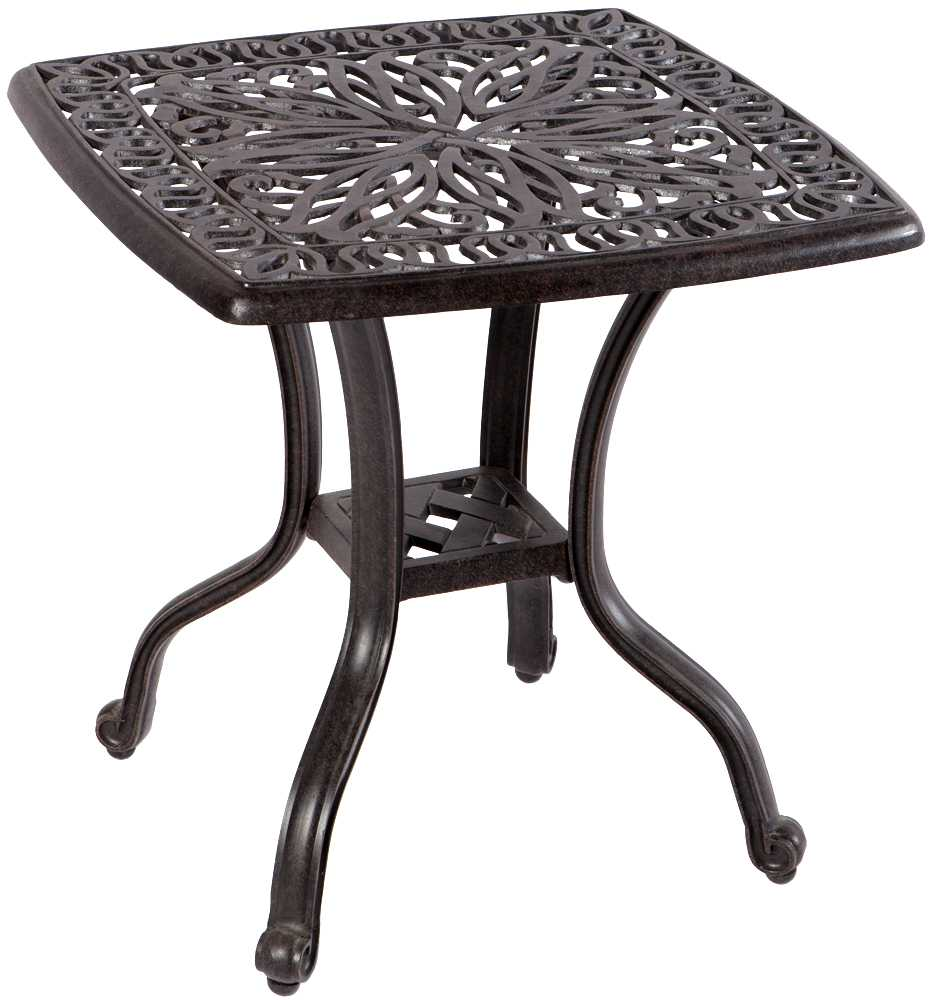 Alfresco home kaleidoscope cast aluminum 21 square side for Square side table