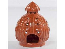 Alfresco Home Garden Set of 2 Fiesta Lanterns - Mandarin