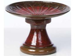 Alfresco Home Garden Ceramic Daisy Birdbath