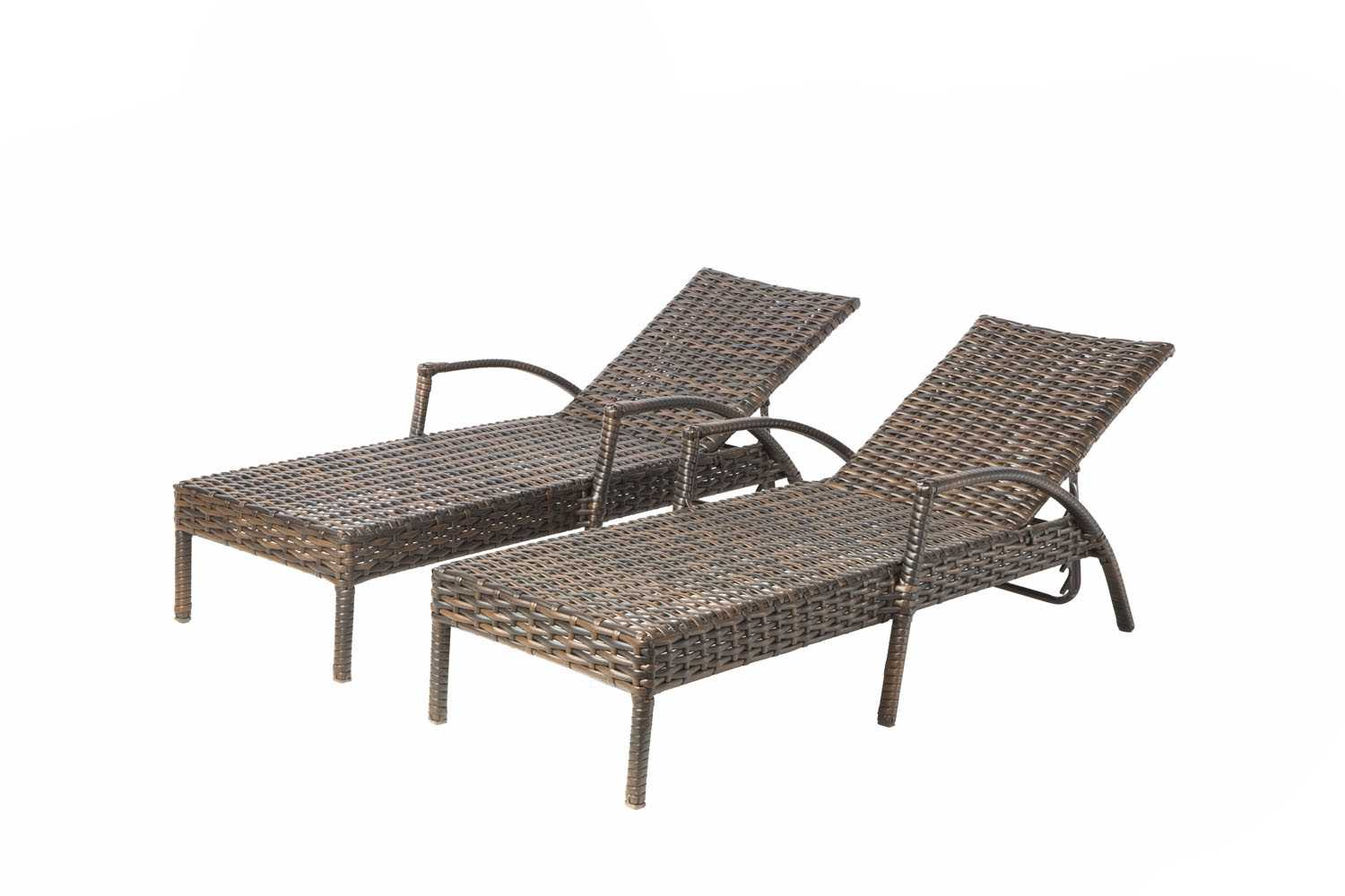 Alfresco home everwoven aluminum wicker adjustable back for Aluminum chaise lounges