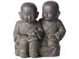 Alfresco Home Garden Cast Resin Buddha Buddies