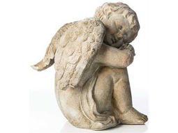 Alfresco Home Garden Cast Resin Sleepy Cherub