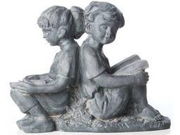 Alfresco Home Garden Cast Resin Children Reading