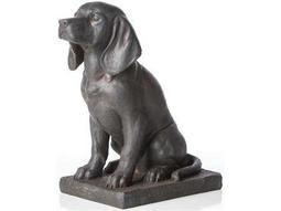 Alfresco Home Garden Cast Resin Noble Dog
