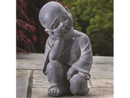 Alfresco Home Garden Thinking Buddha Garden Statue