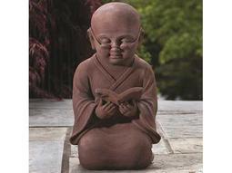Alfresco Home Garden Reading Buddha Garden Statue
