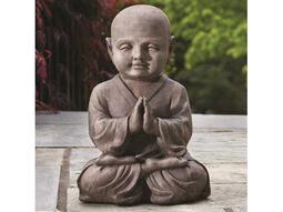 Alfresco Home Garden Praying Buddha Statue