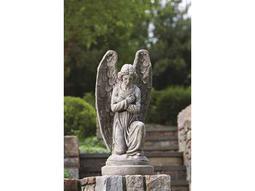 Alfresco Home Garden Kneeling Angel Garden Statue