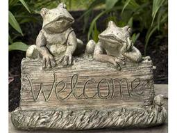 Alfresco Home Cast Resin  Frog Garden Stone