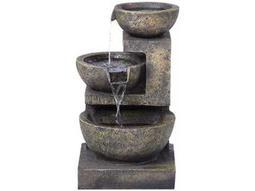 Alfresco Home Garden Rocca Outdoor Fountain