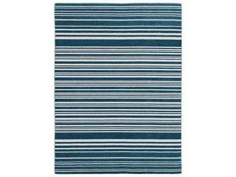 Amer Elana Modern Teal Flatweave Wool Stripes 2' x 3' Area Rug - ELA40203