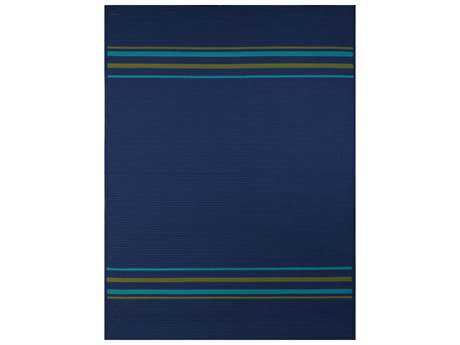 Amer Morro Bay Modern Blue Other Synthetic Stripes 3' x 5' Area Rug - MB6B0305