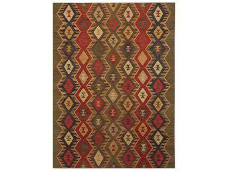 Amer Makamani Traditional Green Flatweave Southwestern 2' x 3' Area Rug - MKM60203