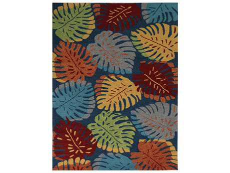 Amer Piazza Modern Blue Other Synthetic Floral/Botanical 2' x 3' Area Rug - PAZ70203