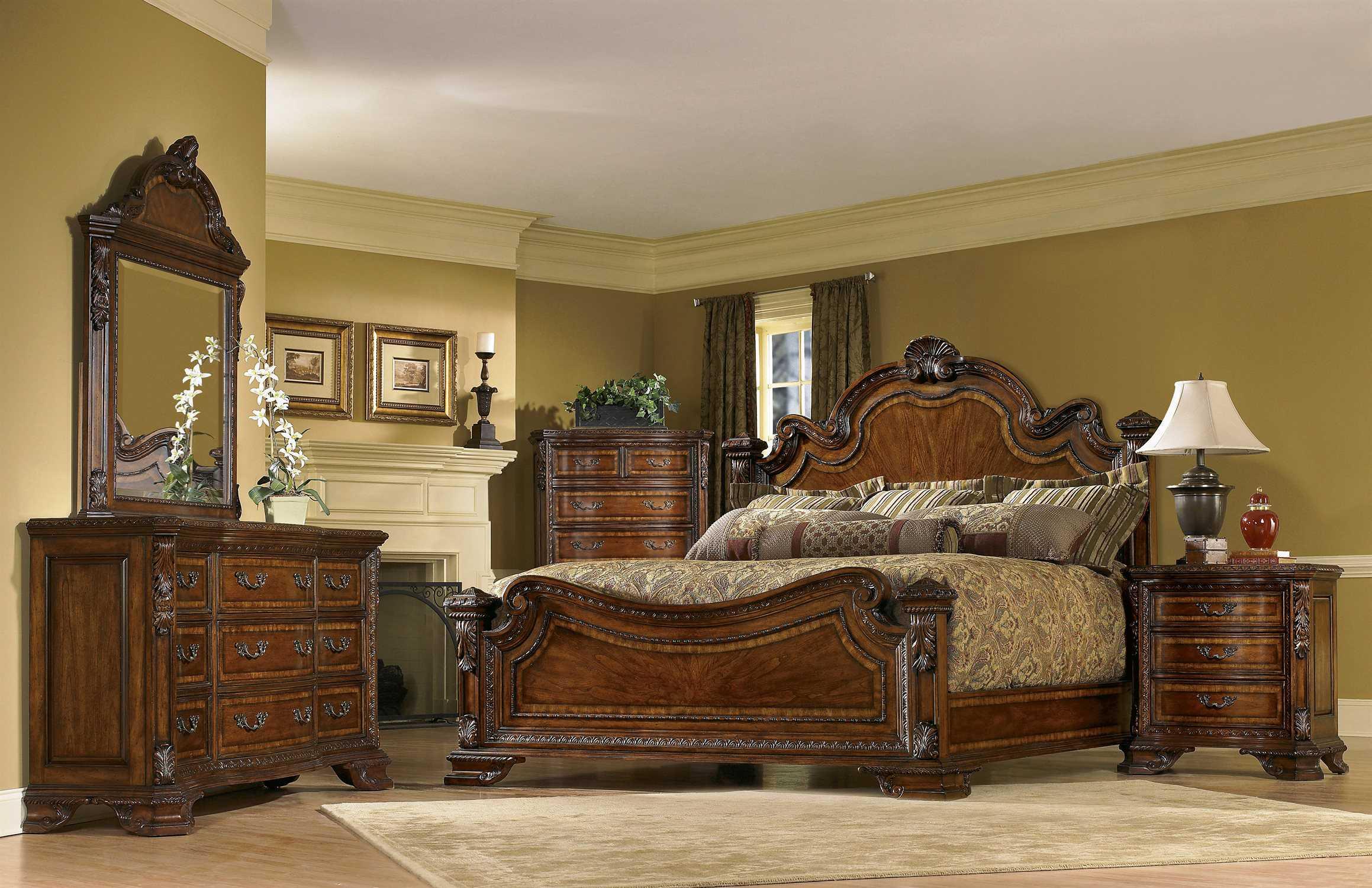 A r t furniture old world bedroom set 143156 2606set for Dresser sets