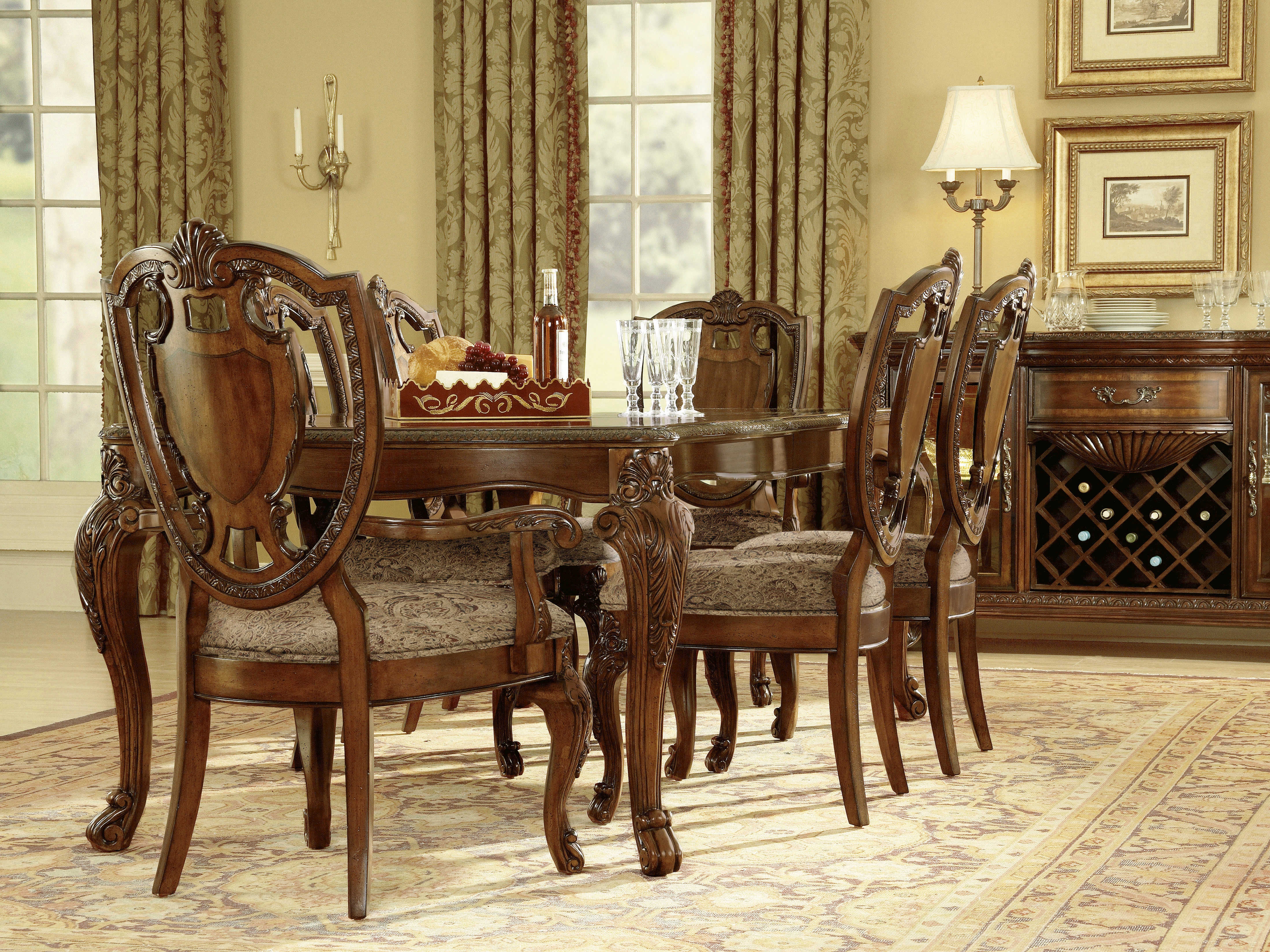 Furniture Old World Traditional Casual Dining Set 143221 2606SET2