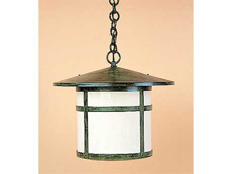 Arroyo Craftsman Berkeley Outdoor Pendant Antique Brass / Almond Mica - BH-17AM-AB