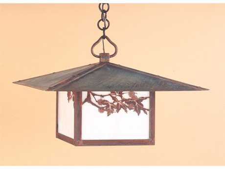 Arroyo Craftsman Monterey Outdoor Pendant Cloud Lift Overlay / Antique Brass / Almond Mica - MH-20CLAM-AB