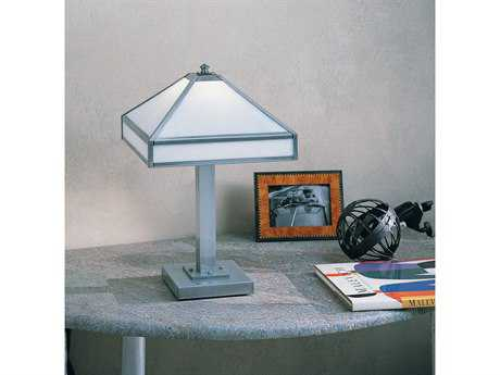 Arroyo Craftsman Pasadena Table Lamp None (Empty) / Antique Brass / Almond Mica - PPTL-11EAM-AB
