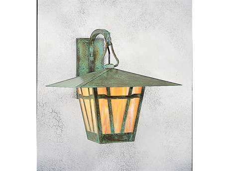 Arroyo Craftsman Westmoreland Outdoor Wall Sconce Antique Brass / Almond Mica - WB-17AM-AB
