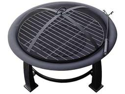 AZ Patio Heaters 30'' Wood Burning Firepit With Cooking Grate