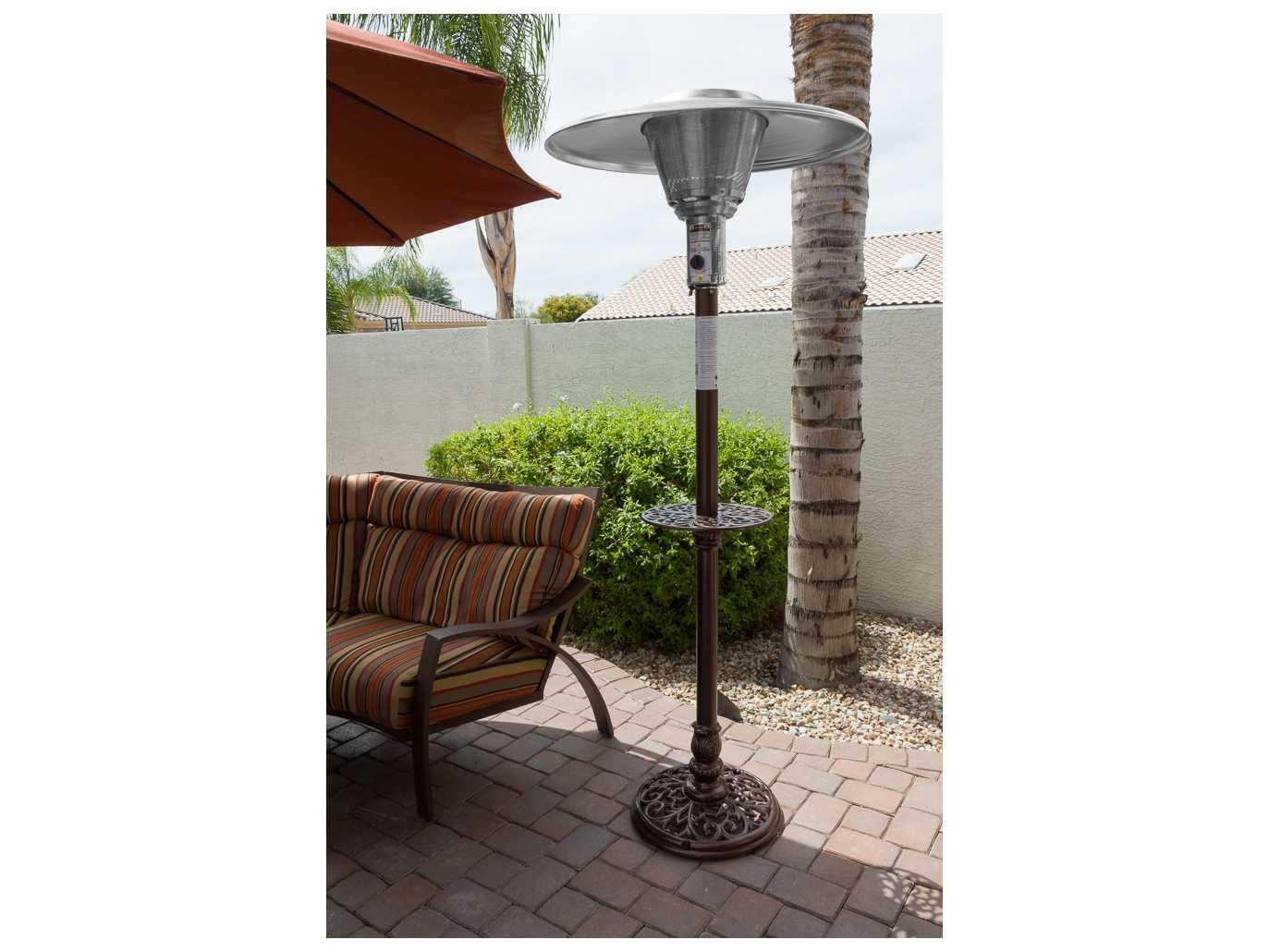 az patio heaters natural gas cast aluminum patio heater